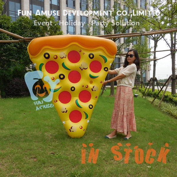 Water mattress pizza shaped inflatable pool float