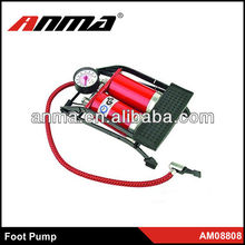 Hot sell high quality metal foot pump with tire gauge for bicycle motorbike water foot pump