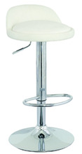 Cheap Colorful Pu Synthetic Leather Chrome Covers Footrest Adjustable Swivel Bar Stool Chair For Kitchen