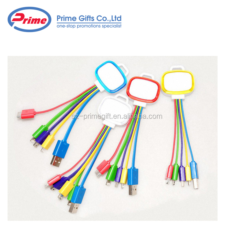 Cheap Price 4 in 1 LED USB Cable with Type C