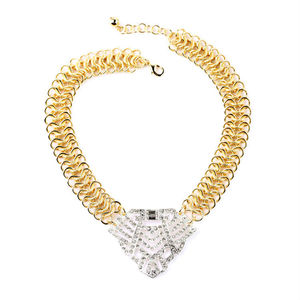 xl01541 Punk Luxury Gold Chains Silver Charm, Gold Mangalsutra Designs Image