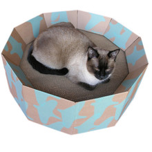 Summer circle cat corrugated bed cardboard cat bed