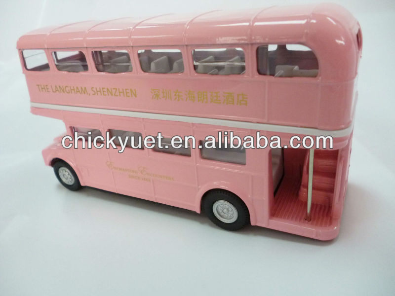 Alloy toy double decker bus