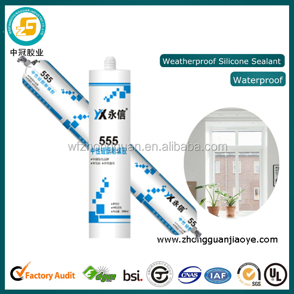 Neutral silicone structutal sealant for building materials