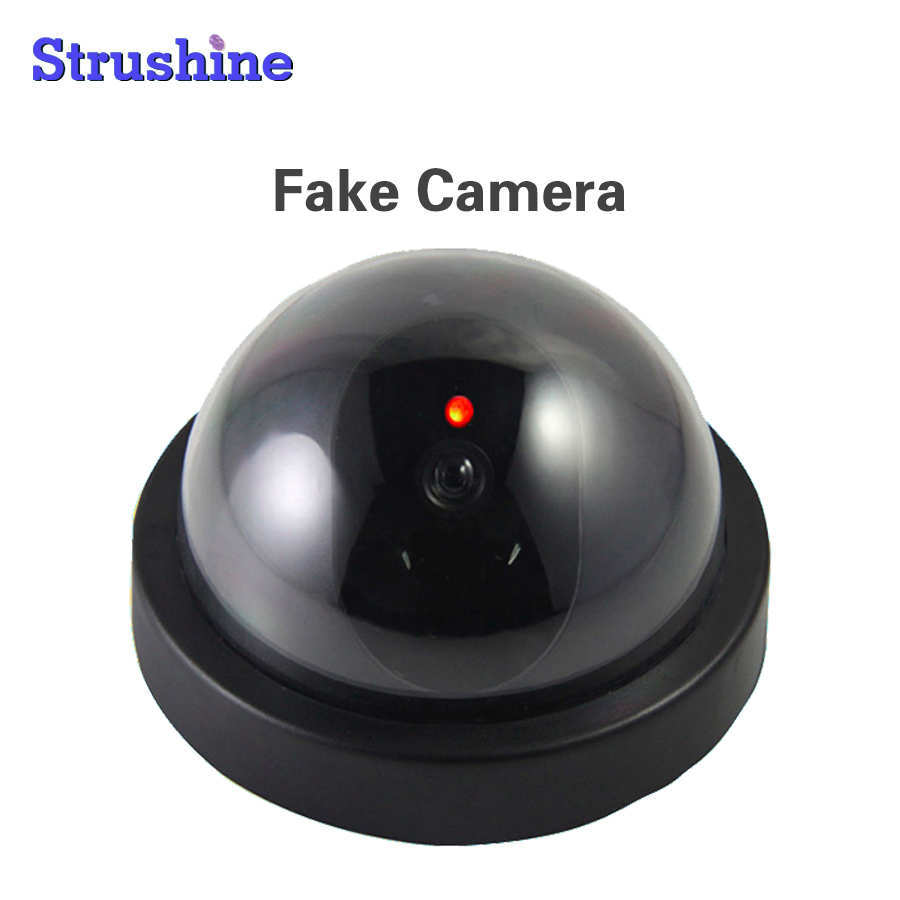 Factory Cheap Indoor Outdoor Dummy Emulational Camera Dome Fake CCTV Camera for Home Safety with Flash LED