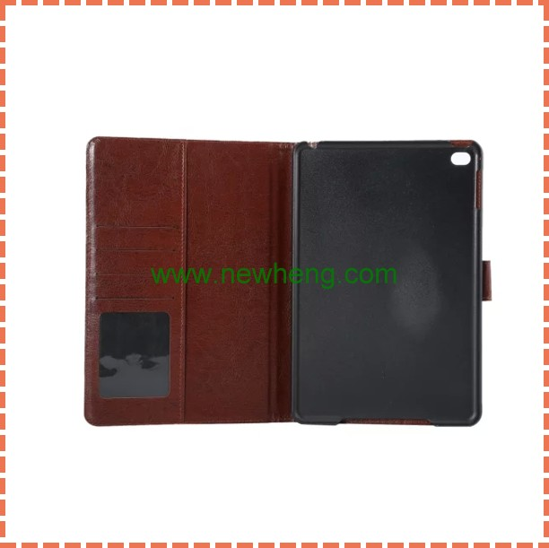 Factory Price Flower Pattern Leather Wallet Case with Sleep / Wake-up Function for ipad mini 4
