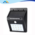 waterproof outdoor garden use Triangle Black Color Solar LED Light With PIR Sensor