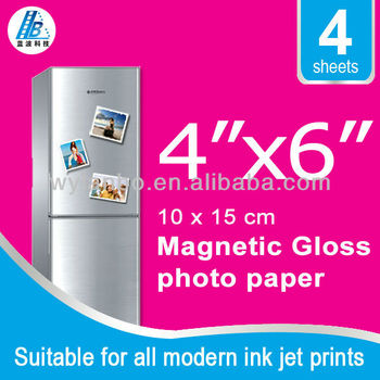"4""x6"" Inkjet Magnetic Photo Paper 6 Sheet Glossy"