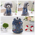 2017 newest cheap dogs fancy jeans winter coat