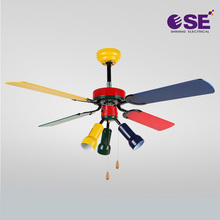 Popular American decorative Colored AC Lighting Ceiling Fans