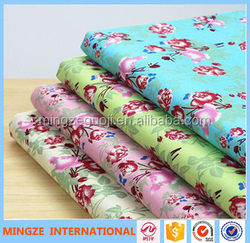 China manufacturer 100% printed cotton fabric bed sheet fabric