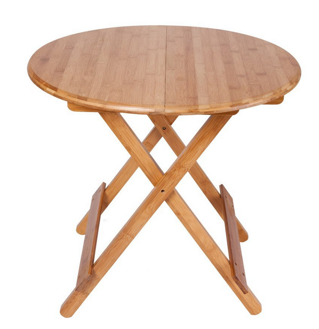 Simple table portable outdoor folding dining table with small size round table