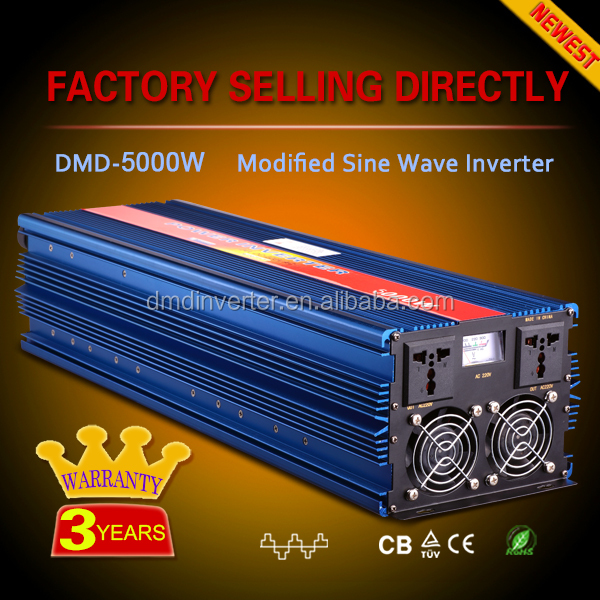 Modified sine wave off grid single phase inverter 3500w 5000w 12v 220v dc ac 50hz 60hz