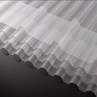 Polycarbonate Corrugated roofing board and solid pc wave sheet