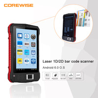Android tablet PC fingerprint/barcode scanner 1D/QR reader 7 inch touch screen