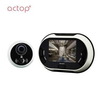 Shenzhen factory ACTOP digital peephole viewer door camera 3.5 inch TFT color display screen