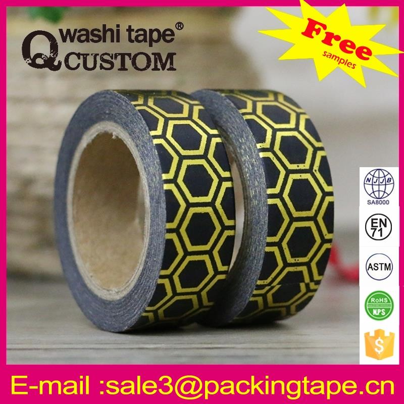 Art and craft foil dots washi tape factory price