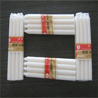 Paraffin wax tearless and flameless white stick candle for lighting