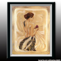 European half-naked beauty on the back of canvas paintings, high quality abstract wall art