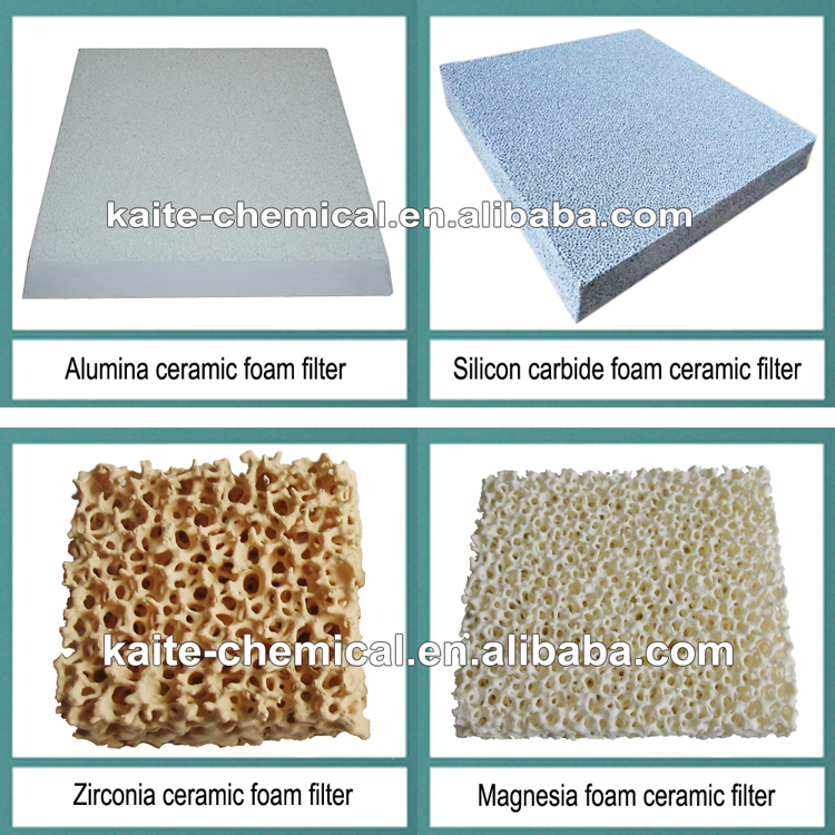 Hot sale aluminum ceramic foam filter manufacture in china