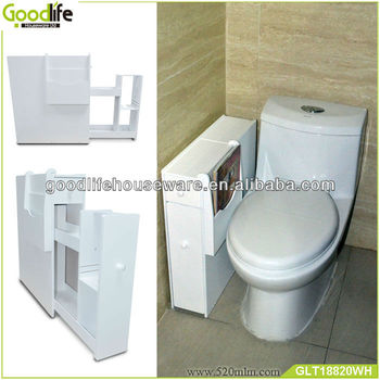 Wooden bathroom corner vanity