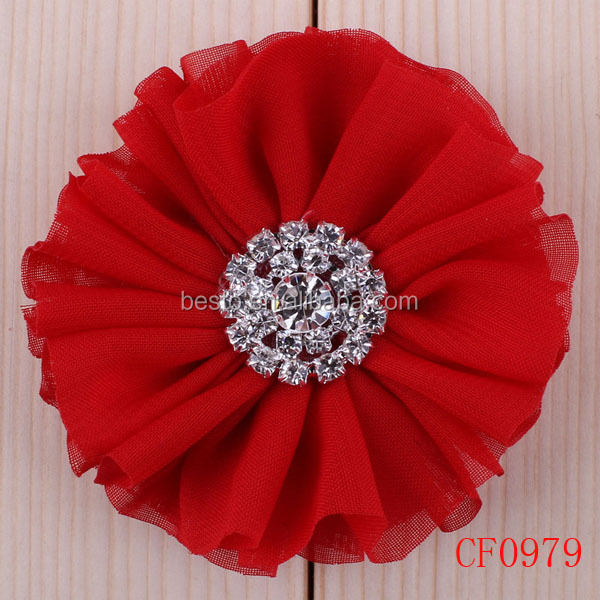 CF0979 Handmade wholesale baby fabric flower accessories for hair