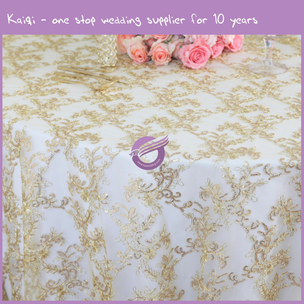 MX0007E Wedding Hand Embroidery Cover Table Cloth