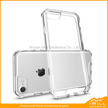 Thin Transparent Crystal Clear Hard Case Cover For iPhone 7 TPU+PC Cell Phone Shell
