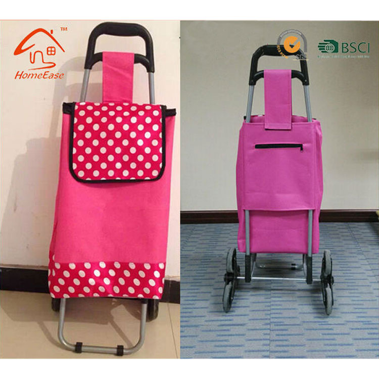2018 600D Polyester Folding Shopping Trolley/Mini Shopping Cart/Foldable Shopping Trolley Bag