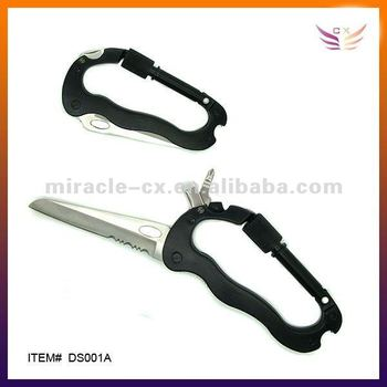 Carabiner knife for mountain climbing tool