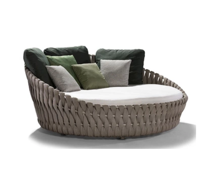 Hot sale modern design outdoor furniture round daybed