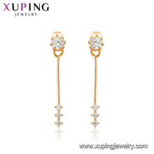 95229 xuping factory new model simple design daily wear 18k gold drop earring