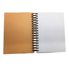 Custom Luxury PU Leather A4 Notebook With Spiral And Music IC Chip