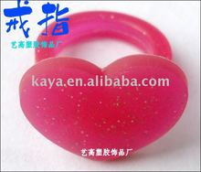 Heart shaped plastic finger puppet