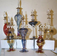 Hand Blown Glass Perfume Bottles Set