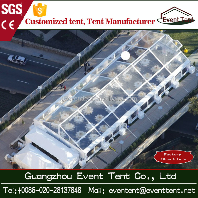 20x30m clear roof transparent marquee wedding tent