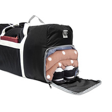 Folding weekend bag, overnight hospital bag duffels for gym sports and traveling