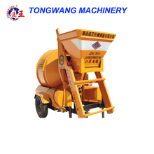 Small Self falling concrete mixer with skip hopper high quality