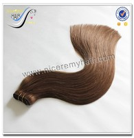 high quality thick ends remy russian hair extensions double drawn weft 200g