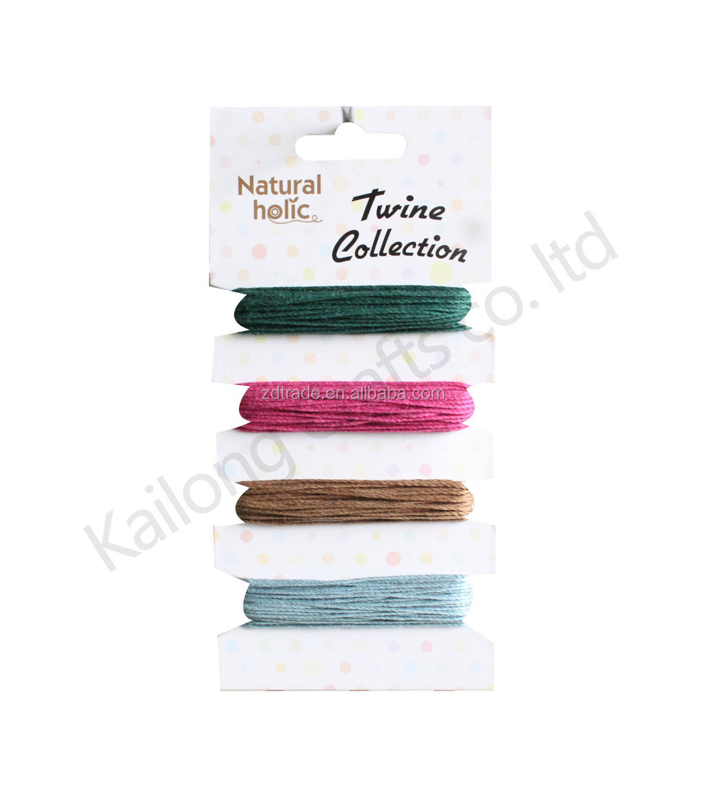 2015 Trendy 20yards waxed Bamboo cord, carded cord, walmart cord