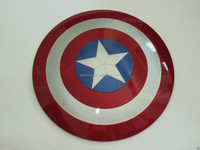 wholesale 2015 the newest 60cm 1:1 Scale Movie Color Captain America abs Shield For Cosplay