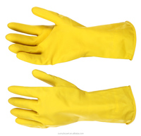 Powder Free Dishwashing Laundry Household Waterproof Rubber Latex Gloves