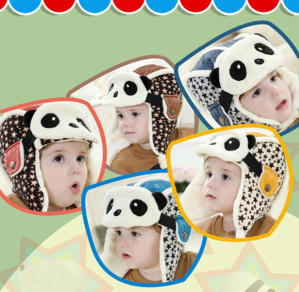 Thickness Hooded Flanging Earflap Hat With Animal Mask