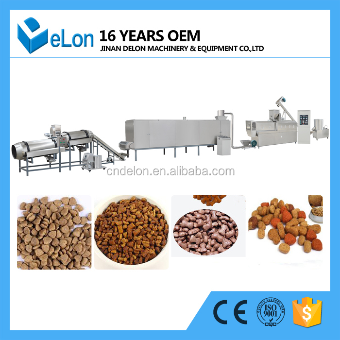 Full automatic animal feed dog food pellet making machine