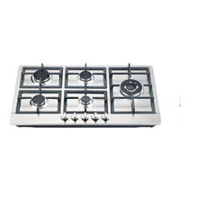 Kitchen use stainless steel 5 burner stove iron cast support gas stove/gas cooker /gas hob
