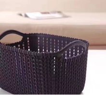 pp wholesale bedroom organizer storage plastic rattan wicker laundry basket