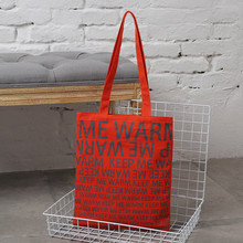 Customized logo printing recycling canvas shopping tote bag