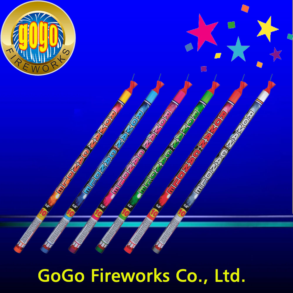 "Top quality 0.8"" 10S roman candles packing 36/2 fireworks roman candle fireworks"