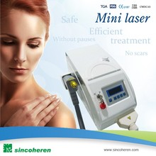 Tabletop Nd yag laser tattoo removal machine