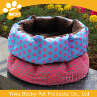 Pet bed pet house lovely dot dog berber fleece round bed